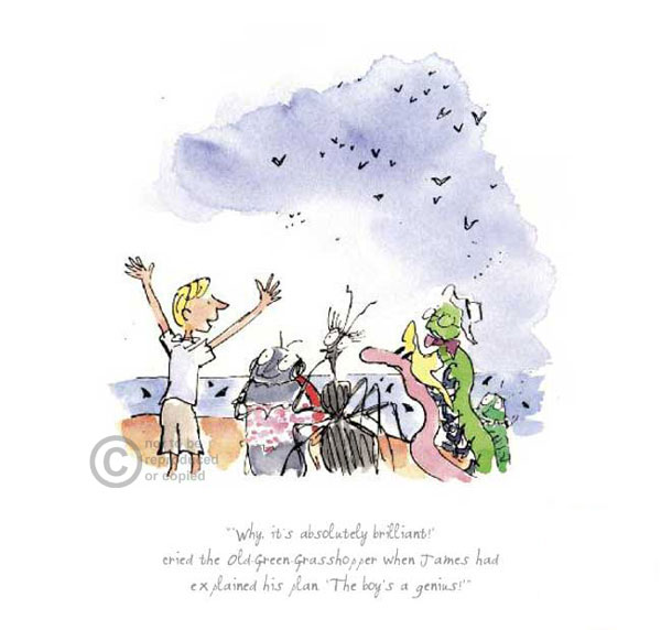 Roald Dahl's James & the Giant Peach by Quentin Blake